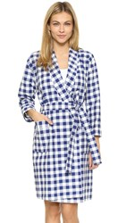 Sleepy Jones Giant Gingham Isa Robe Navy