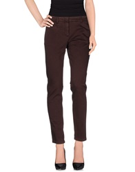 Peserico Sign Casual Pants Maroon
