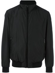 Paul And Shark Zipped Bomber Jacket Black