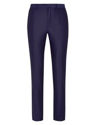 Burton Plain Extra Slim Suit Trousers Blue
