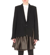 A.F.Vandevorst Booking Layered Wool Blazer Black Black