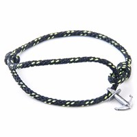 Anchor And Crew All Black Severn Rope Bracelet