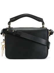 Sophie Hulme Heart Key Plaque Tote Black