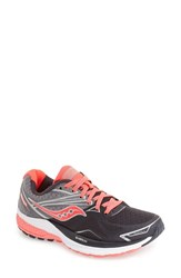 Saucony Women's 'Ride 9' Running Shoe Grey Charcoal Coral