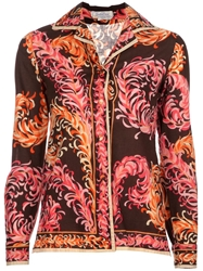 Emilio Pucci Vintage Vintage Patterned Shirt Brown