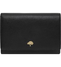 Mulberry Tree Glossy Goat Leather French Purse Black