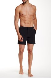 Parke And Ronen 6' Catalonia Solid Swim Trunk Black