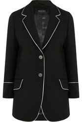 Gucci Silk Trimmed Wool Twill Blazer