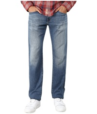 Ag Adriano Goldschmied Matchbox Slim Straight Leg Denim In 17 Years Monarch 17 Years Monarch Men's Jeans Blue