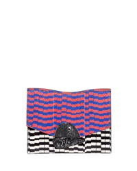 Proenza Schouler New Small Mixed Print Snakeskin Clutch Bag Multi Multicolor