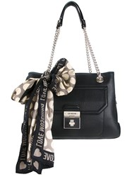 Love Moschino Double Straps Shoulder Bag Black