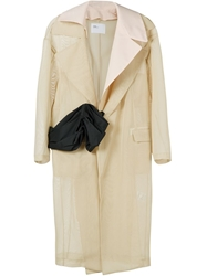 Toga Sheer Trench Style Coat Nude And Neutrals