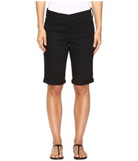 Nydj Briella Roll Cuff Shorts In Black Black Women's Shorts