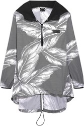 The Upside Palms Hooded Printed Shell Jacket Black