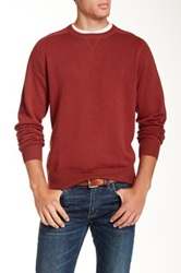 Peter Millar Loop Back Crew Neck Sweater Red