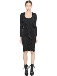 Givenchy Ruffled Cashmere Jersey Dress