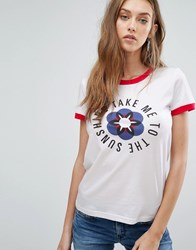 Pepe Jeans Sharon Sunshine Tee White.