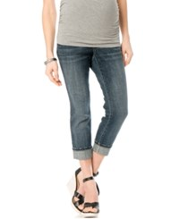 Motherhood Maternity Cropped Skinny Jeans Dark Denim Wash