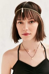 Urban Outfitters Crystal Drop Chain Goddess Headwrap Gold