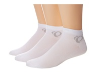 Pearl Izumi Attack Low Sock 3 Pack White Women's Crew Cut Socks Shoes