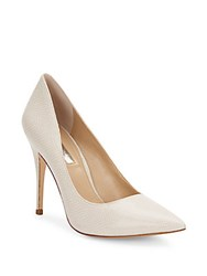 Bcbgeneration Oslo Embossed Point Toe Pumps White