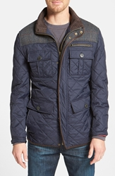 Vince Camuto Diamond Quilted Full Zip Jacket Online Only Navy