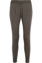 Brunello Cucinelli Cashmere And Silk Blend Sweatpants Army Green