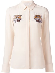Stella Mccartney Embroidered Shirt Nude And Neutrals