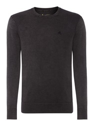 Label Lab Plain Crew Neck Jumper Blue