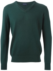 Lanvin V Neck Sweater Green