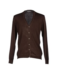 Touch Back Cardigans Dark Brown