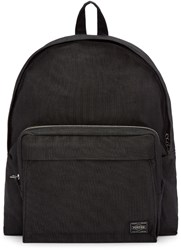 Porter Black Nylon Smoky Day Pack Backpack