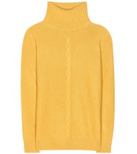 Loro Piana Kimberley Cashmere Turtleneck Sweater Yellow