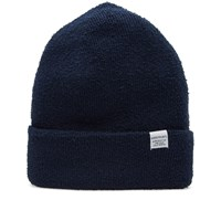 Norse Projects Texture Beanie Blue