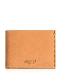 Shinola Slim Bifold Wallet Natural