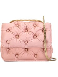 Benedetta Bruzziches Quilted Cross Body Bag Pink And Purple