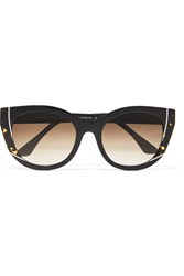 Thierry Lasry Nevermindy Cat Eye Acetate Sunglasses Black