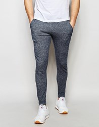 Jack And Jones Jack And Jones Skinny Fit Joggers In Salt And Pepper Blue