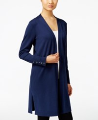 Jm Collection Open Front Duster Cardigan Only At Macy's Intrepid Blue