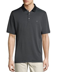 Callaway Micro Stripe Short Sleeve Polo Shirt Caviar Black