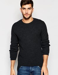 Asos Jumper With Cut Out Hem Grey