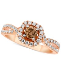 Le Vian Bridal Diamond Engagment Ring 1 1 8 Ct. T.W. In 14K Rose Gold