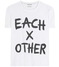 Each X Other Printed Cotton T Shirt White