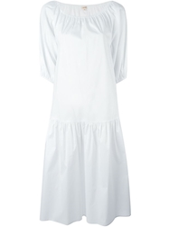P.A.R.O.S.H. Balloon Sleeve Oversized Dress White