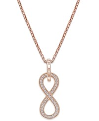 Thomas Sabo Pave Crystal Infinity Necklace In 18K Rose Gold Plated Sterling Silver