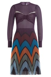 Mary Katrantzou Dress With Bow And Pleated Skirt Multicolor
