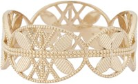 Grace Lee Women's Gold Lace Aztec Ring Colorless