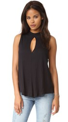 Free People Faye Tank Top Black