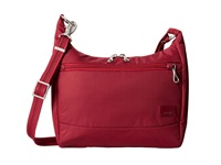 Pacsafe Citysafe Cs100 Anti Theft Travel Handbag Cranberry Handbags Red