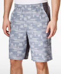 Greg Norman For Tasso Elba Men's Performance Printed Golf Shorts Only At Macy's Silver